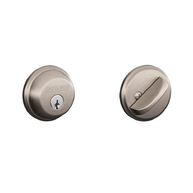 Schlage Residential B60 B Series Deadbolt  Single Cylinder