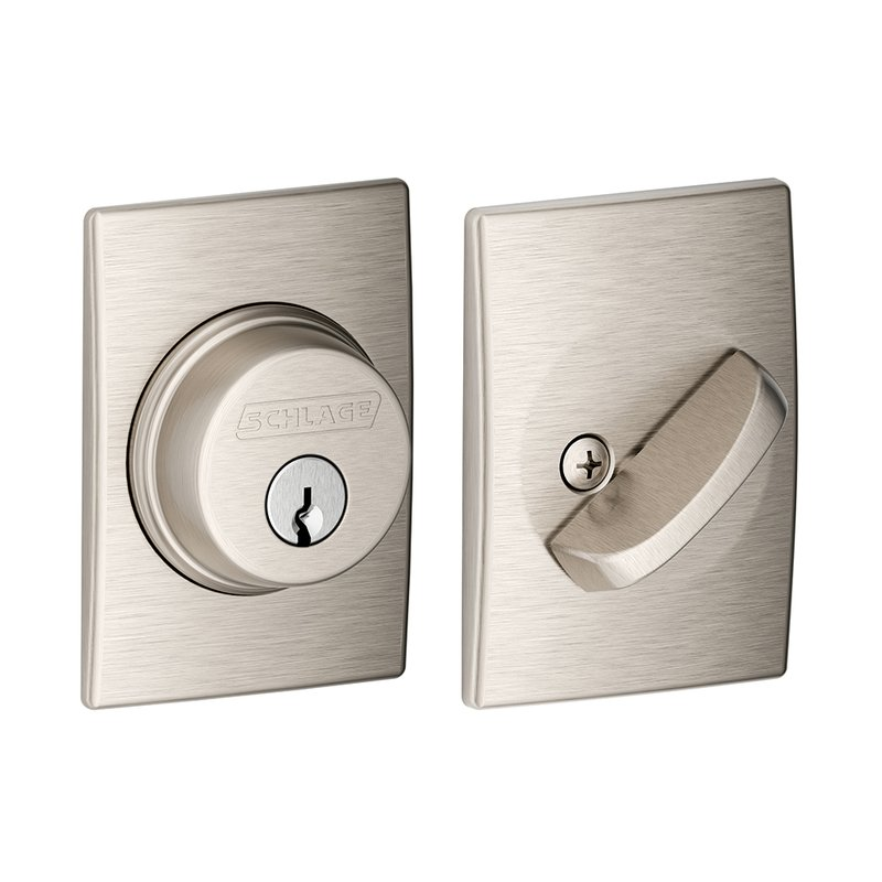 Schlage Residential B60CEN B Series Deadbolt with Century Rose Single Cylinder