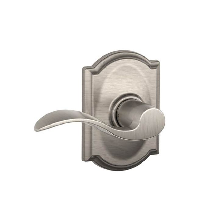 Schlage Residential F10ACCCAM F Series Accent with Camelot Rose Passage Door Locks