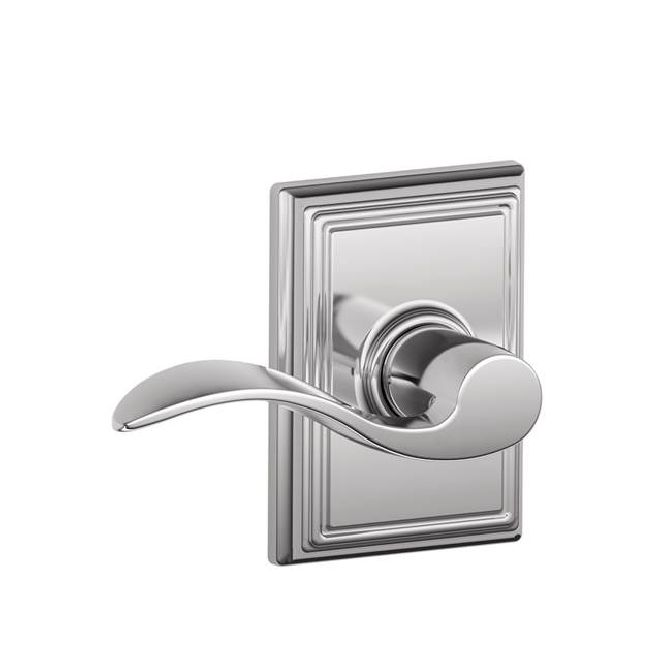 Schlage Residential F10ACCADD F Series Accent with Addison Rose Passage Door Locks