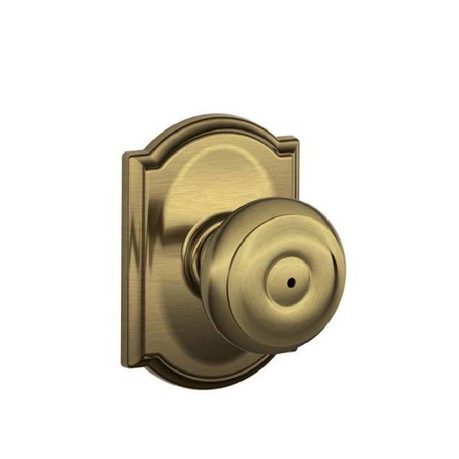 Schlage Residential F40GEOCAM F Series Georgian with Camelot Rose Privacy Door Locks