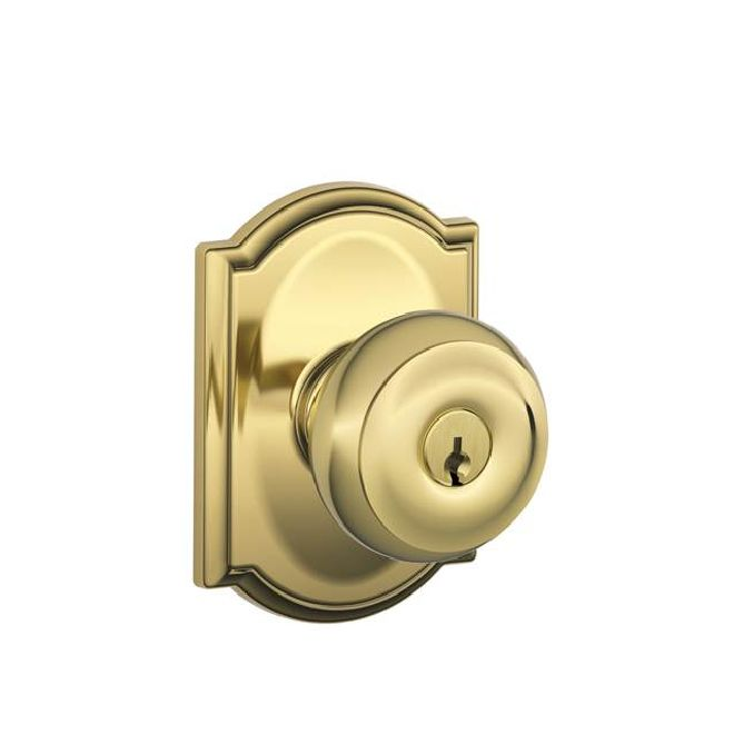 Schlage Residential F51AGEOCAM F Series Georgian with Camelot Rose Entry Door Locks