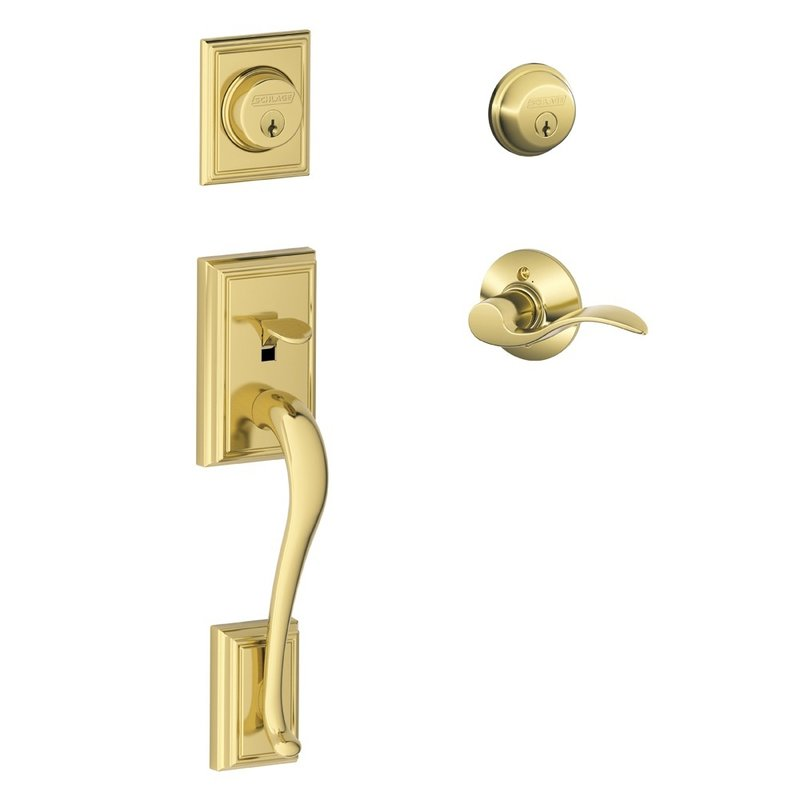 Wonderful Schlage Residential F62ADDACCLH F Series Addison X Accent Door Lock  Handlesets