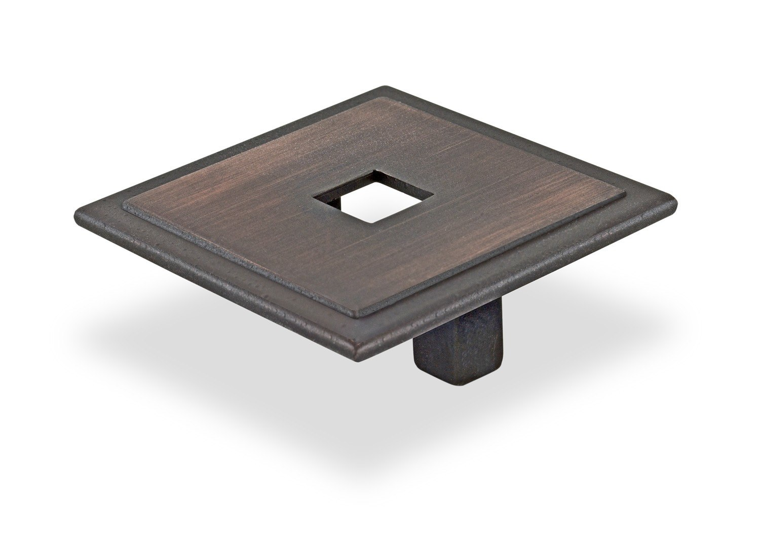TOPEX M2055.32RBS SMALL SQUARE WITH HOLE VENETIAN BRONZE 1 1/4 INCHES (32MM) CENTER TO CENTER