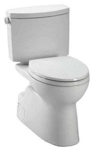 TOTO CST474CEFG VESPIN II 1.28 GPF TWO-PIECE ELONGATED TOILET WITH SANAGLOSS AND DOUBLE CYCLONE TECHNOLOGIES - LESS SEAT