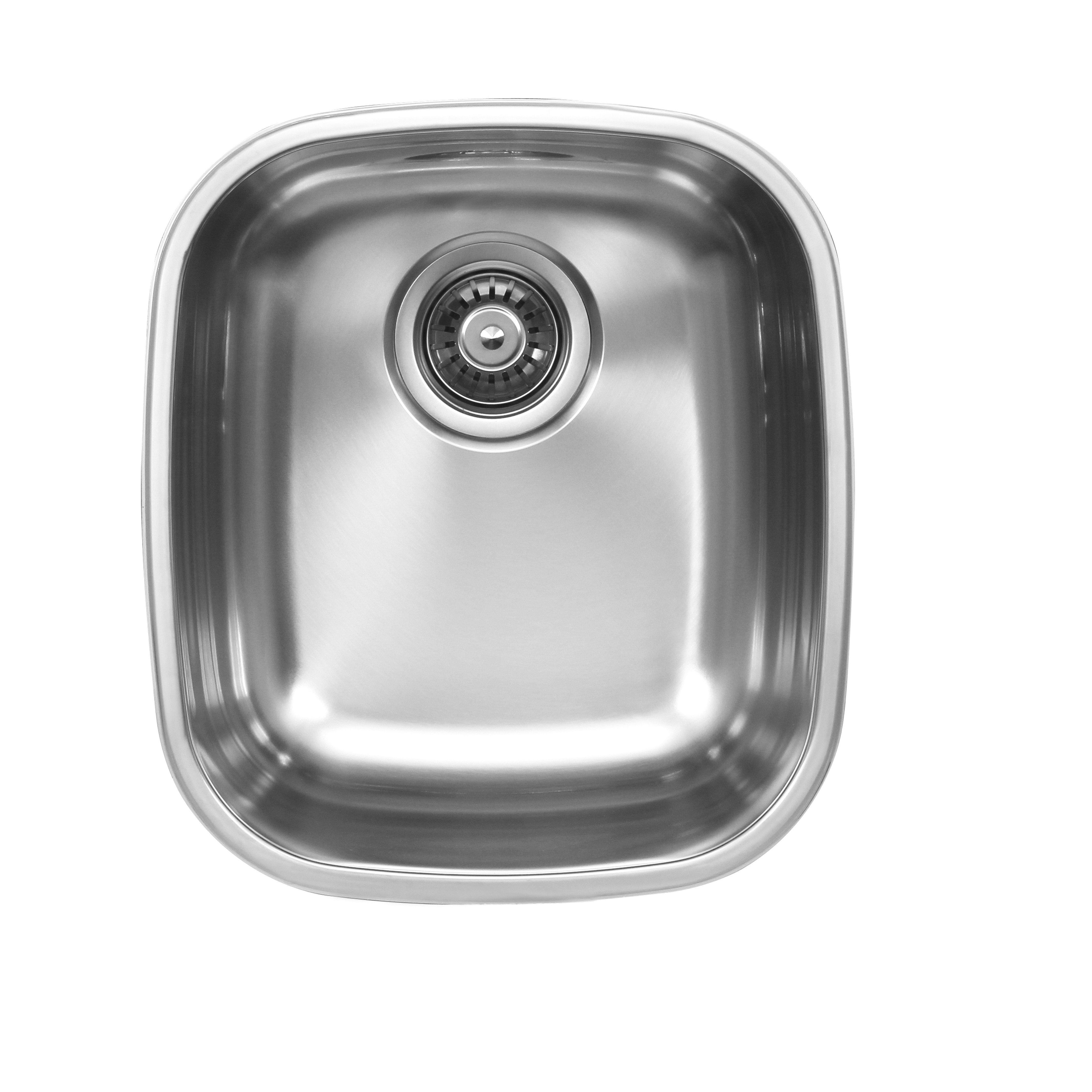 UKINOX D345.10GCRB UNDERMOUNT SINGLE BOWL STAINLESS STEEL KITCHEN SINK WITH BOTTOM GRID, CUTTING BOARD, AND RINSING BASKET