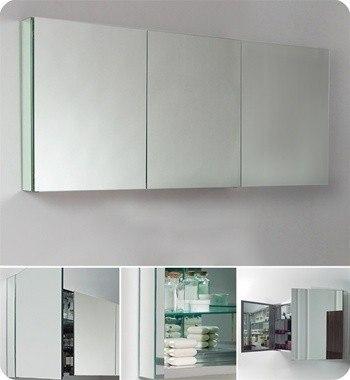 Fresca Fmc8019 59 Inch Wide Bathroom Medicine Cabinet W Mirrors Fresca Bathroom Medicine