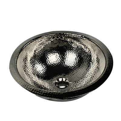 Nantucket Sinks RON-OF 13 Inch Brass Hammered Brightwork Single Bowl Sink