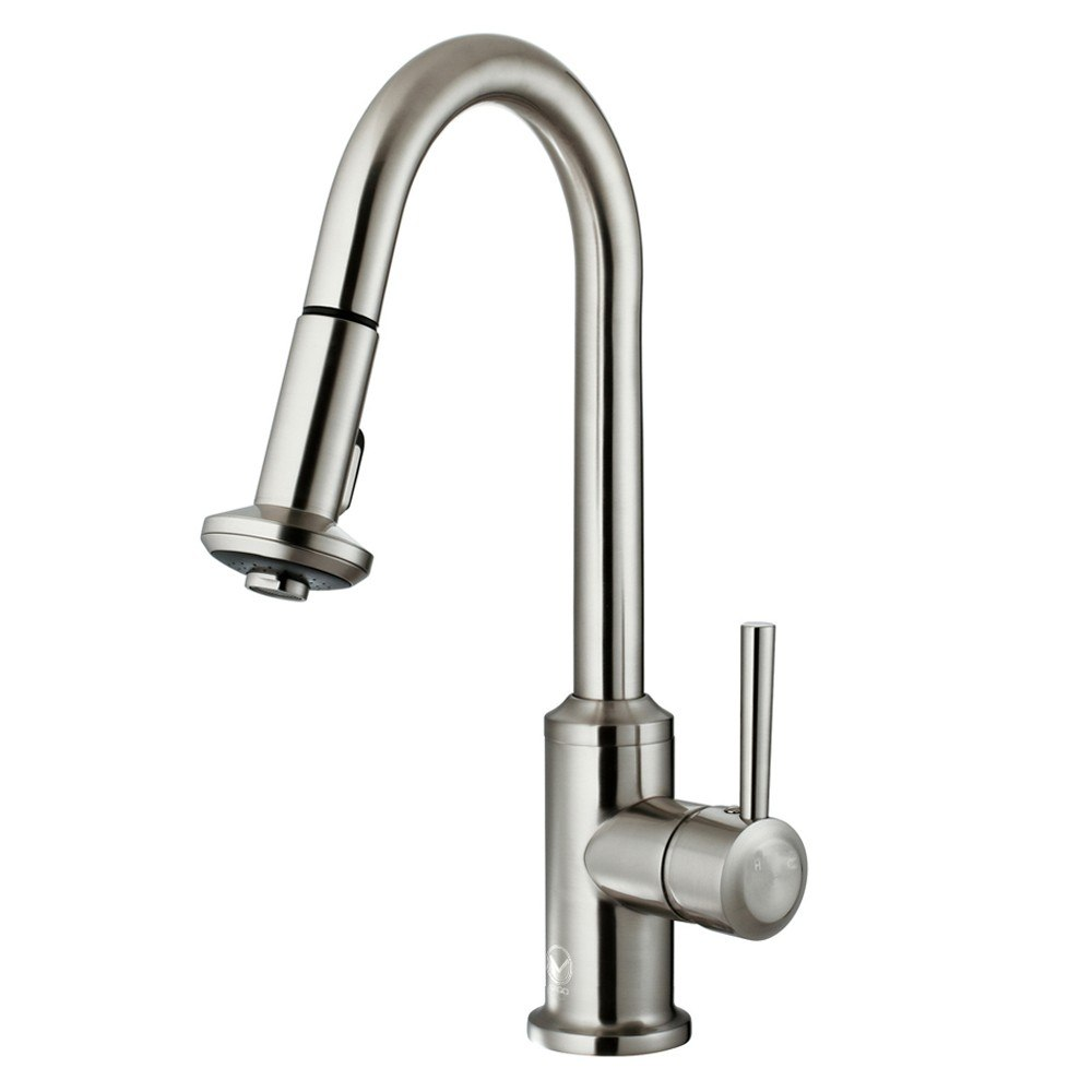 Vigo VG02012 Stainless Steel Pull-Out Spray Kitchen Faucet