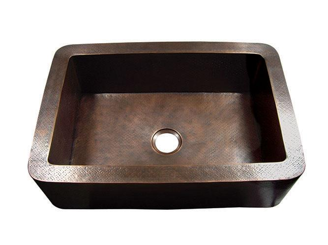 Yosemite Home Décor CSS1651-H 33 Inch Hammered Single Bowl Farmhouse Sink