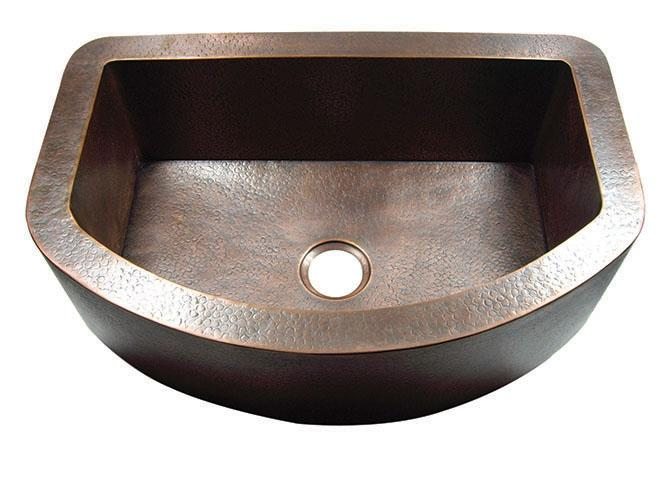 Yosemite Home Décor CSS1652-F 33 Inch Hammered Arch Single Bowl Farmhouse Sink