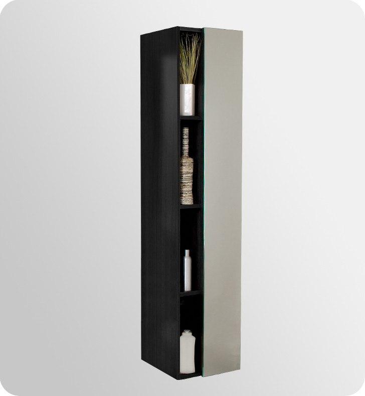 skinny bathroom linen cabinets fresca fvn8010bw mezzo 39 inch black modern bathroom vanity w