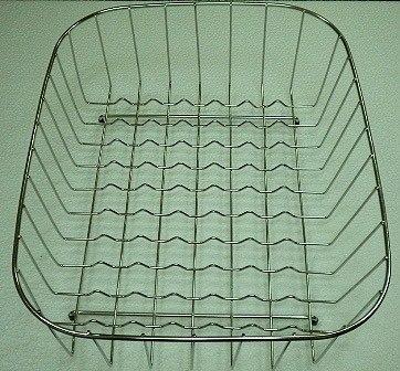 Ukinox RB376SS 18 Inch x 14 Inch Stainless Steel Rinsing Basket