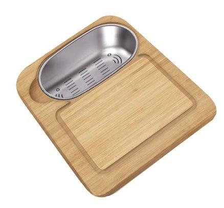 Ukinox CC760HW Wood Cutting Board w/ Colander