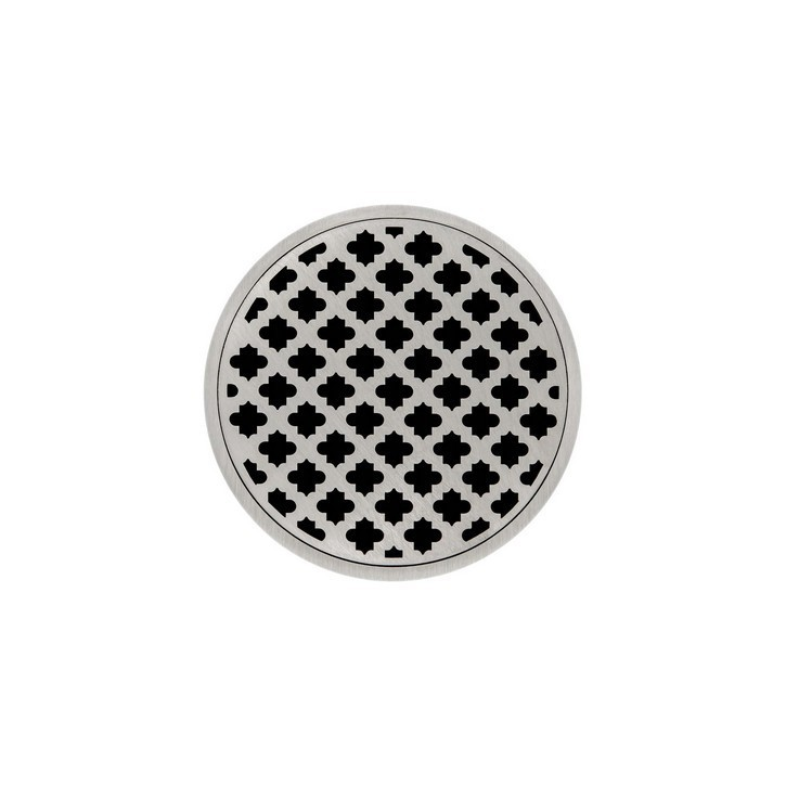 INFINITY DRAIN RMDB 5 5 X 5 INCH STRAINER-MOOR PATTERN AND 2 INCH THROAT WITH BONDED FLANGE WITH 2, 3 AND 4 INCH OUTLET