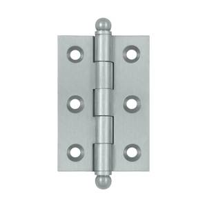 Deltana CH2517 Solid Brass 2-1/2 x 1-11/16 Inch Cabinet Hinge, with Ball Tips