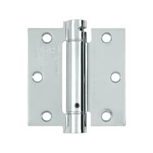 Deltana DSH35 Steel 3-1/2 x 3-1/2 Inch Spring Hinge Single Action
