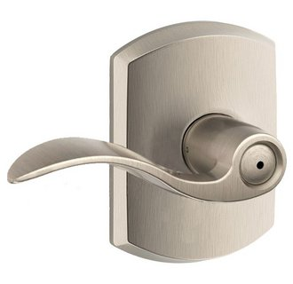 Schlage Residential F40ACCGRW F Series Accent with Greenwich Rose Privacy Door Locks