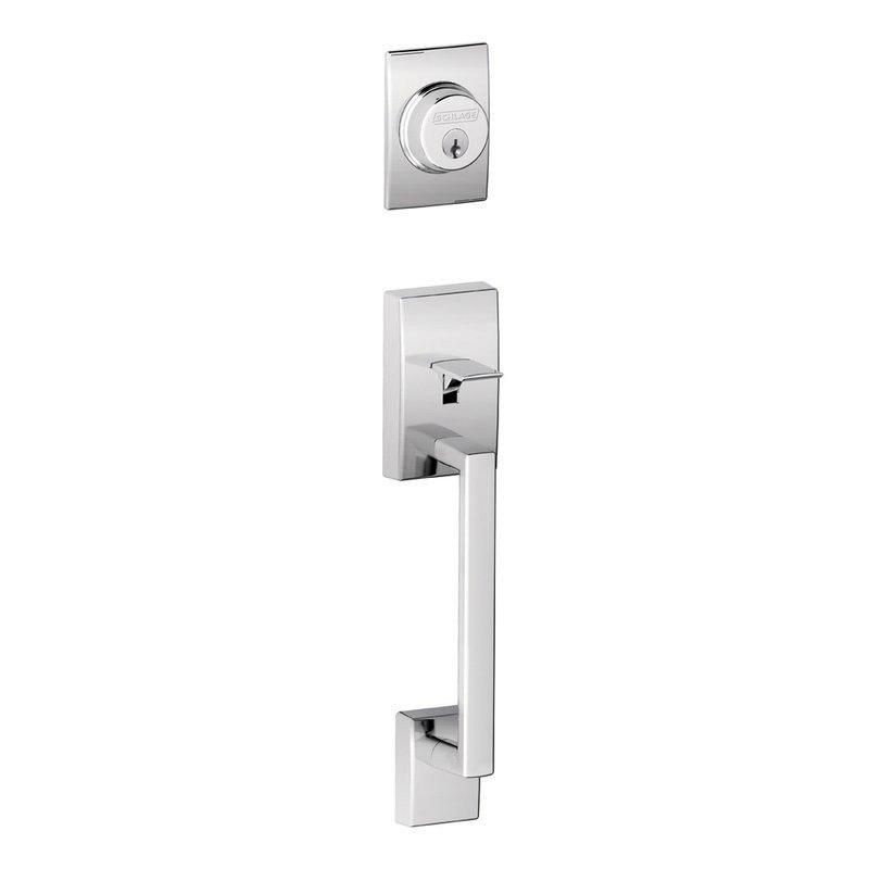 SCHLAGE RESIDENTIAL F62CENORB F SERIES CENTURY X ORBIT DOOR LOCK HANDLESETS