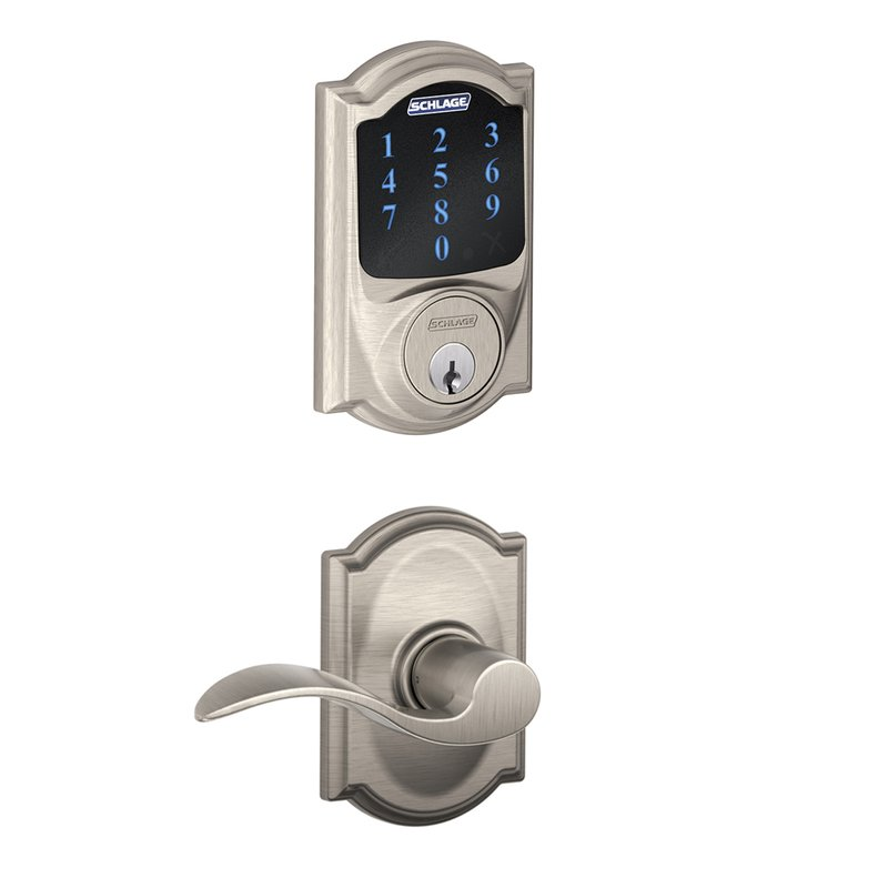 Schlage Residential FBE469NXCAMACC FBE Series Camelot x Accent Combo Door Locksets