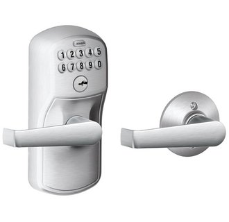 Schlage Residential FE575PLY626ELA FE Series Plymouth x Elan Keyless Locksets/Accessories