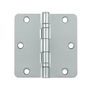 Deltana S35R4BB Steel 3-1/2 x 3-1/2 x 1/4 Inch Radius Hinge, Ball Bearing