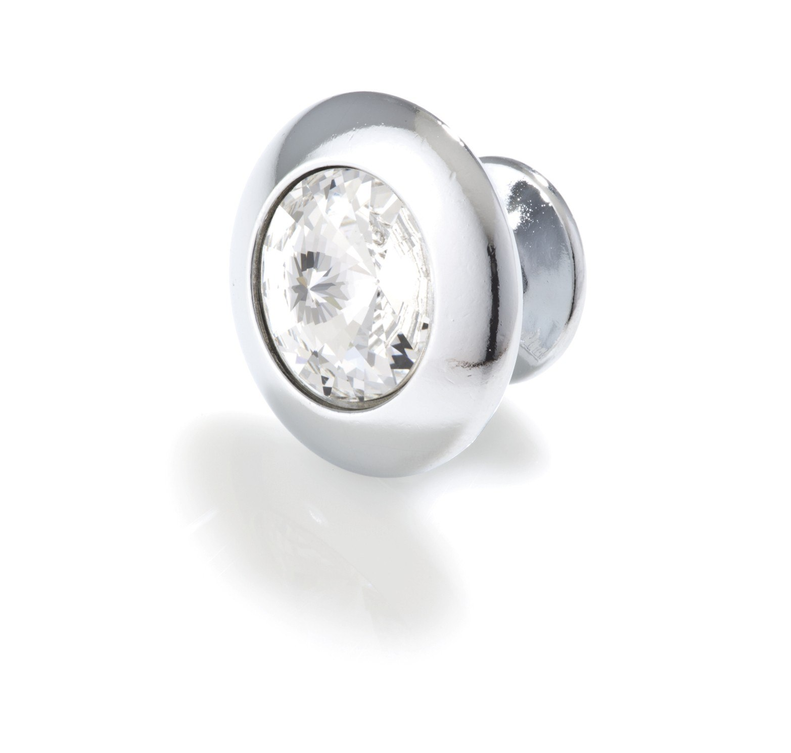 Topex 10779B40 Round Crystal Knob 1 3/16 Inches Bright Chrome