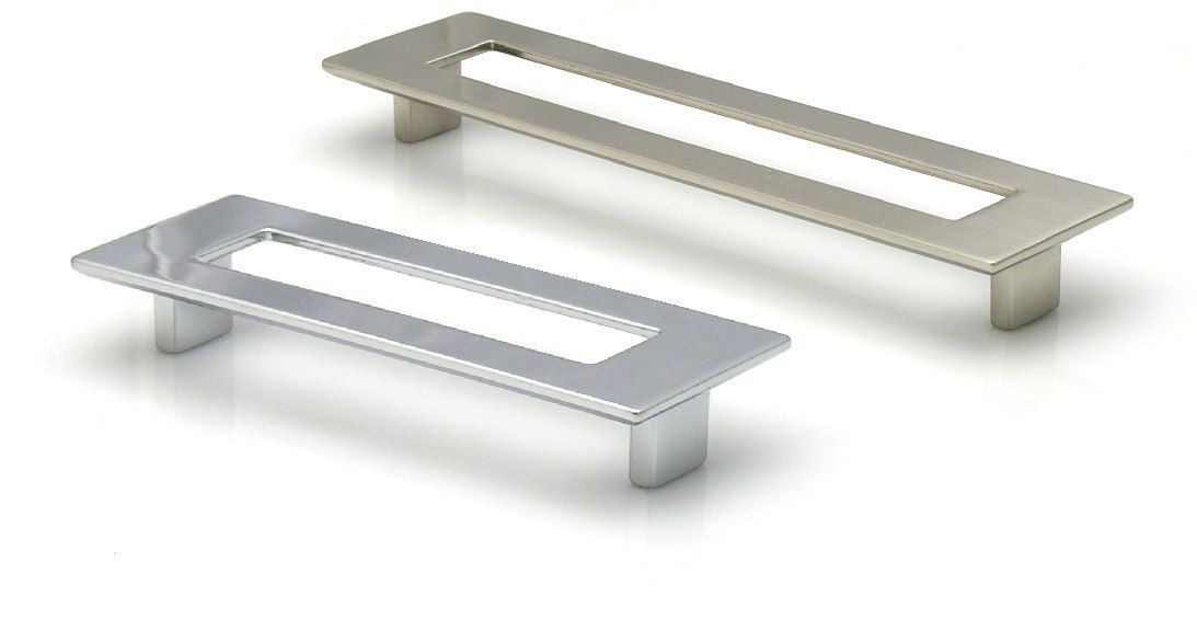 Topex 8-1070012840 Rectangular Pull With Hole 5 Inches (128mm) Polished Chrome