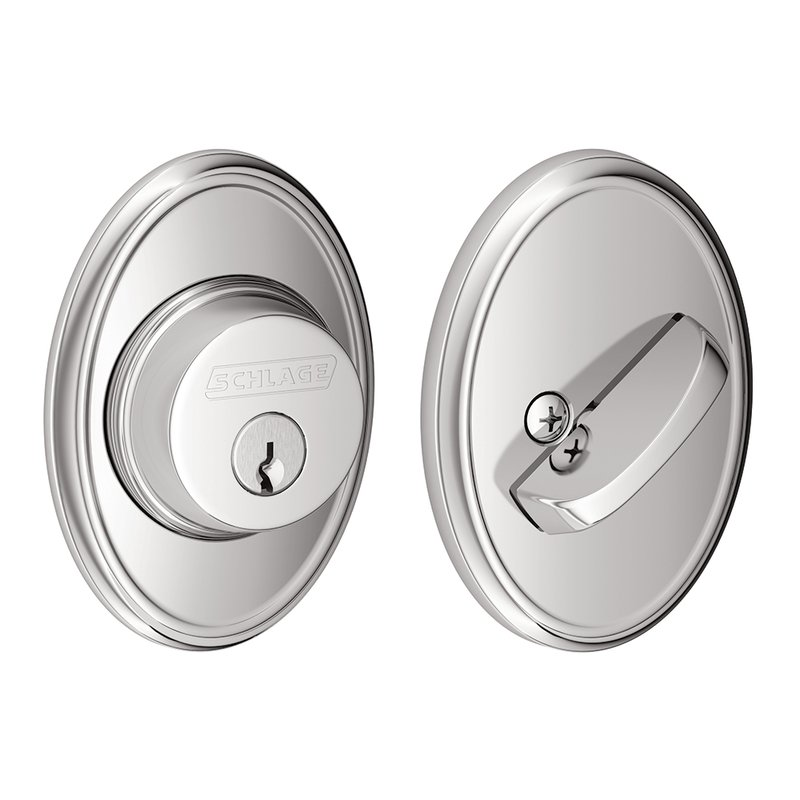 Schlage Residential B60WKF B Series Deadbolt with Wakefield Rose  Single Cylinder