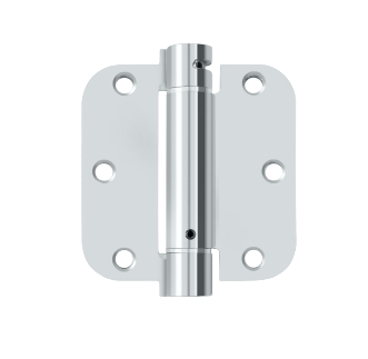 Deltana DSH35R5 Steel 3-1/2 x 3-1/2 x 5/8 Inch Spring Hinge Single Action
