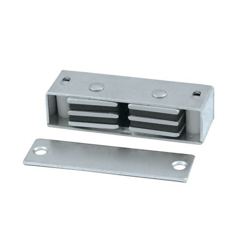 DELTANA MC327 MAGNETIC CATCH 3 1/8 INCHES X 1 INCHES X 3/4 INCHES STEEL FINISH