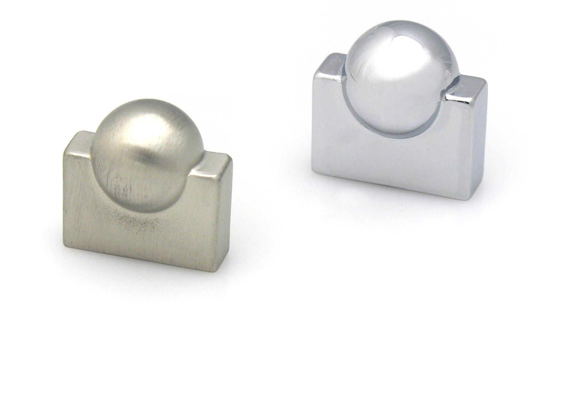 TOPEX Z40680160067 KNOB WITH CENTER BALL 5/8 INCHES (16MM) STAINLESS STEEL LOOK