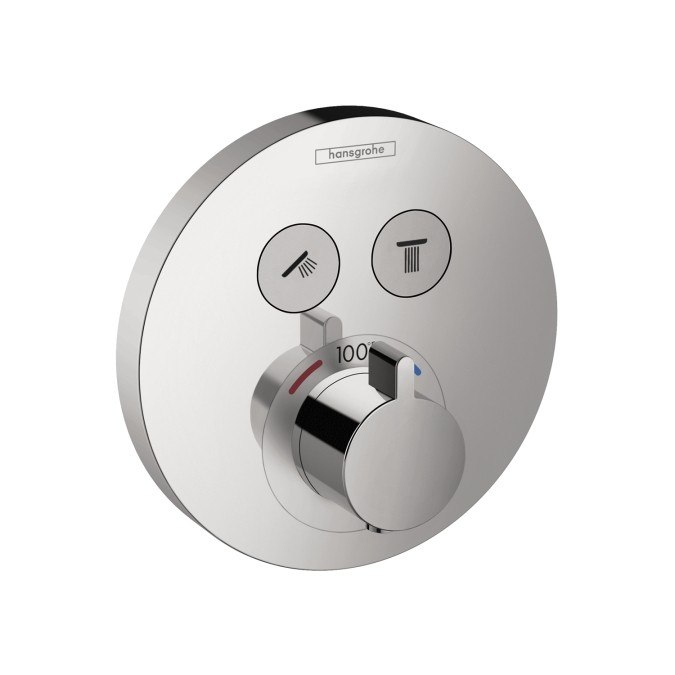 Hansgrohe 15743 ShowerSelect Round Thermostatic 2-Function Trim
