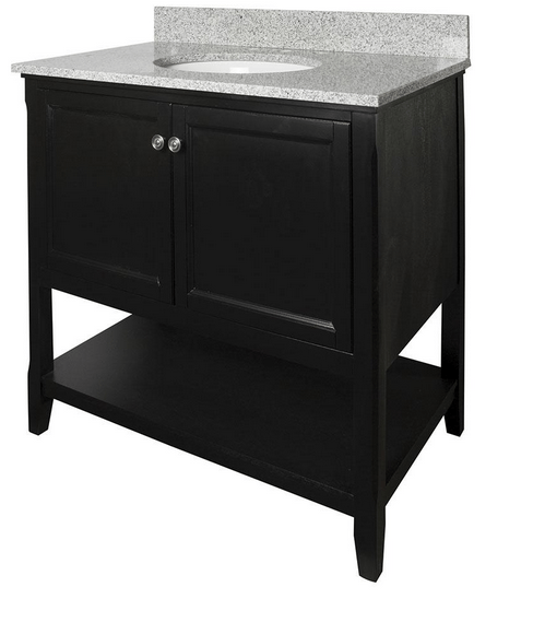 Foremost AUBV3622 Auguste  Black Finish Collection 36 Inch Assembled Vanity
