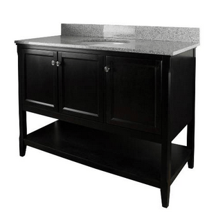 Foremost AUBV4822 Auguste  Black Finish Collection 48 Inch Assembled Vanity