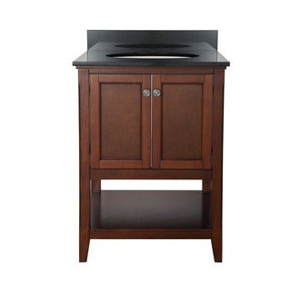 Foremost AUCNV2422 Auguste Chestnut Collection 24 Inch Vanity (no Top)
