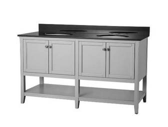Foremost AUGV6022 Auguste Grey Collection 60 Inch Assembled Vanity
