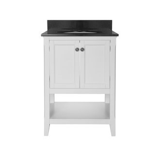 Foremost AUWV2422 Auguste White Collection 24 Inch Vanity (no Top)