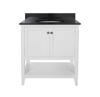 Foremost AUWV3022 Auguste White Collection 30 Inch Vanity (no Top)