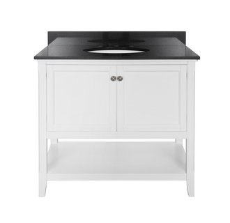 Foremost AUWV3622 Auguste White Collection 36 Inch Vanity (no Top)