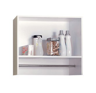 Foremost BEWS2712 27 Inch Laundry Wall Shelf With Metal Hanging Rod