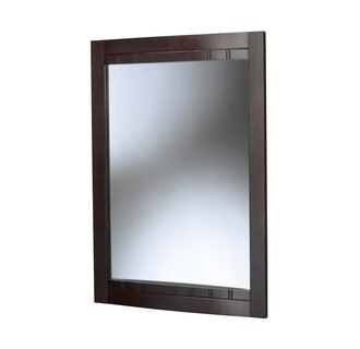 Foremost BLCM-2434 Bellani Cherry Collection   24 Inch Mirror  Curved Detail Frame Design