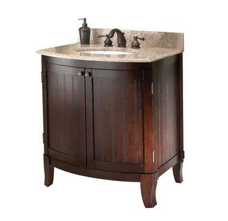 Foremost BLCVT-3021 Bellani Cherry Collection   30 Inch Vanity Combo Mohave Beige Granite Top
