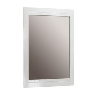 Foremost BLWM-2434 Bellani White Collection   24 Inch Mirror Curved Detail Frame Design