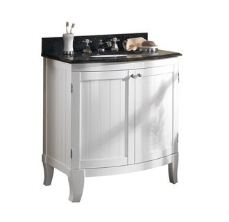 Foremost BLWVT-3021 Bellani White Collection   30 Inch Vanity Combo  Midnight Pearl Granite Top