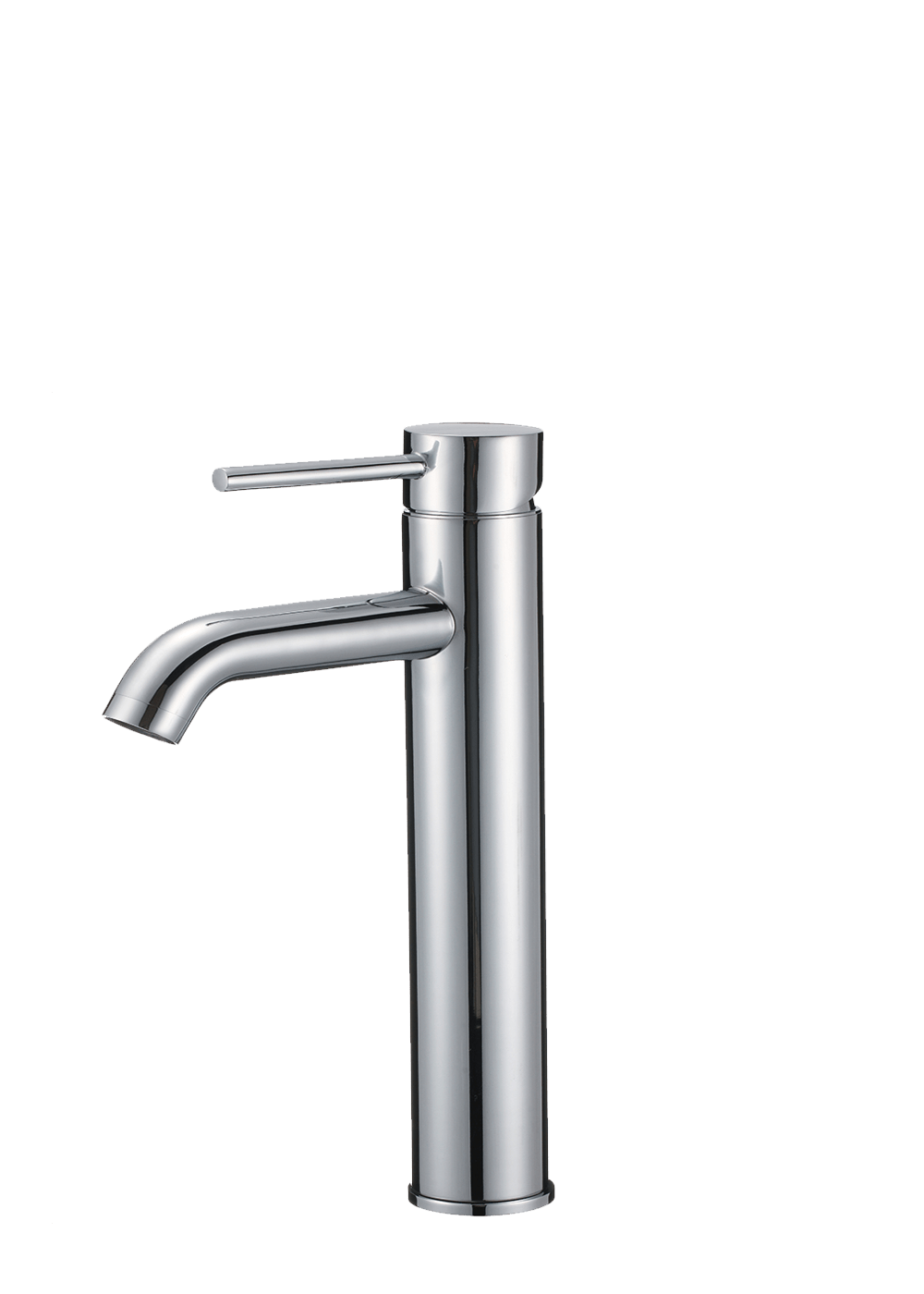Bosconi F-S02 Single Hole Deckmount Bathroom Faucet in Polished Chrome