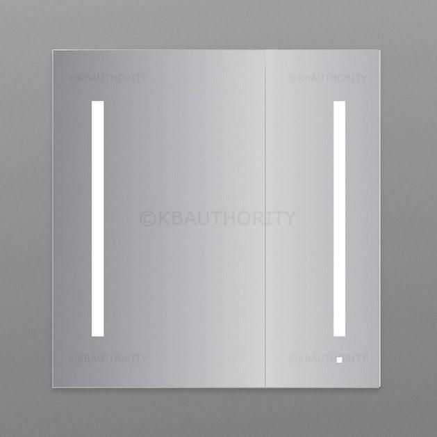 Robern AC3030D4P2L Aio Series 29-1/4 Inch Flat Plain Two Doors Mirror Cabinet