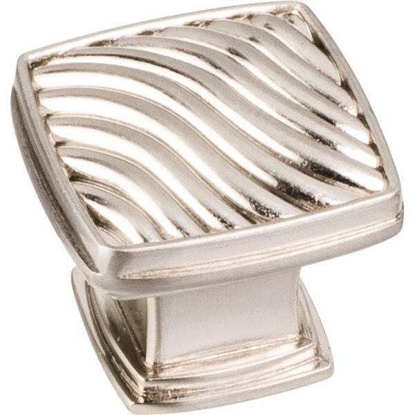 Hardware Resources 123 Jeffrey Alexander Encada Collection 1-3/16 Inch Zinc Diecast Waved Square Cabinet Knob