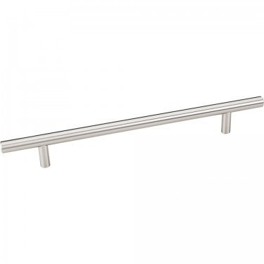 HARDWARE RESOURCES 270SS ELEMENTS NAPLES COLLECTION 10.6 INCH OVERALL LENGTH HOLLOW STAINLESS STEEL BAR CABINET PULL