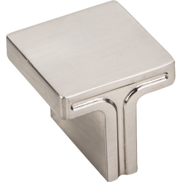 HARDWARE RESOURCES 867L JEFFREY ALEXANDER ANWICK COLLECTION 1-1/8 INCH OVERALL LENGTH SQUARE CABINET KNOB